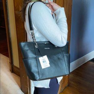 NWT Calvin Klein black leather purse